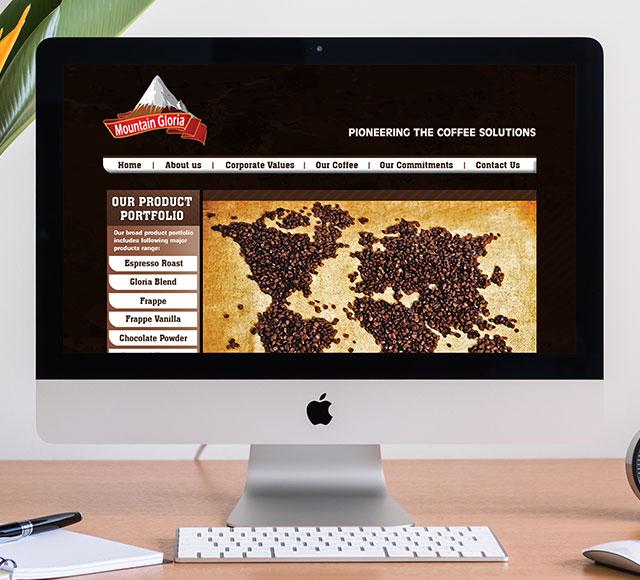 Mountain Gloria website design & development
