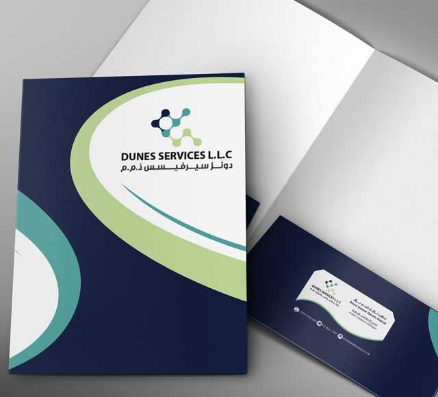 Dunes Services Folder design