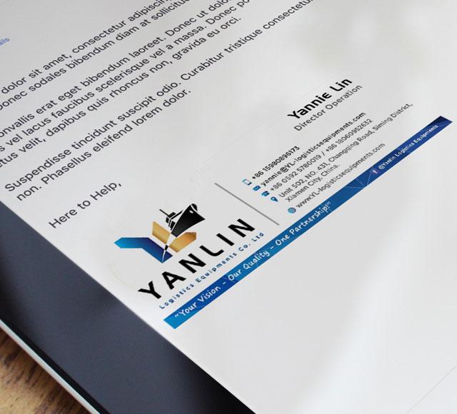 Yanlin Logistics E mail Signature