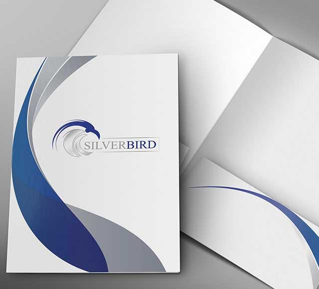 Silver Bird Folder Design