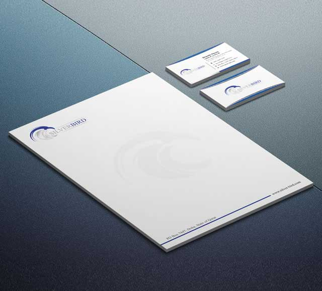 Silver Bird Corporate Stationery