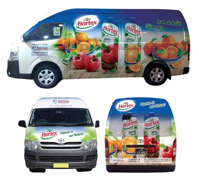 Hortex Van Branding