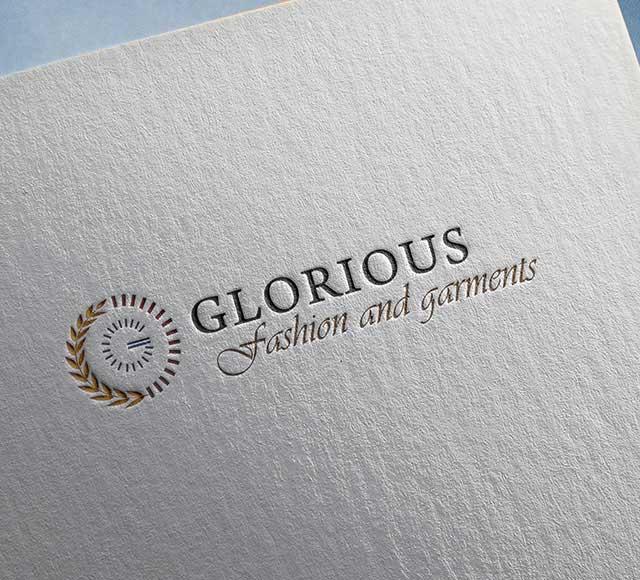 Glorious Fashion & Garments logo & Brand identity