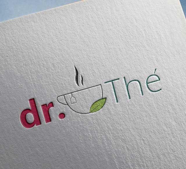 dr. THÉ logo & brand identity