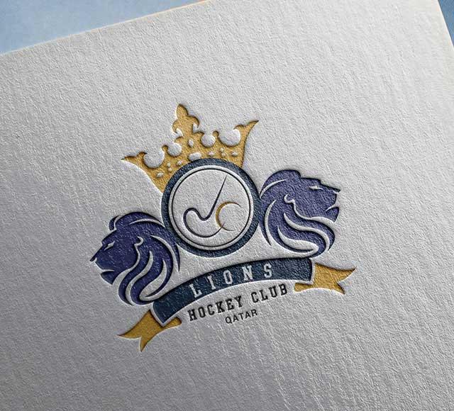 Lions Hockey Club logo design