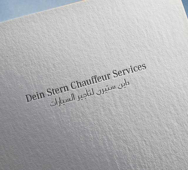 Dein Stern Chauffeur Services logo & brand identity