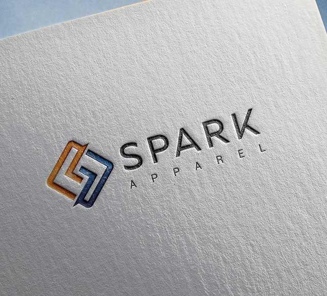 Spark Apparel logo & brand communication