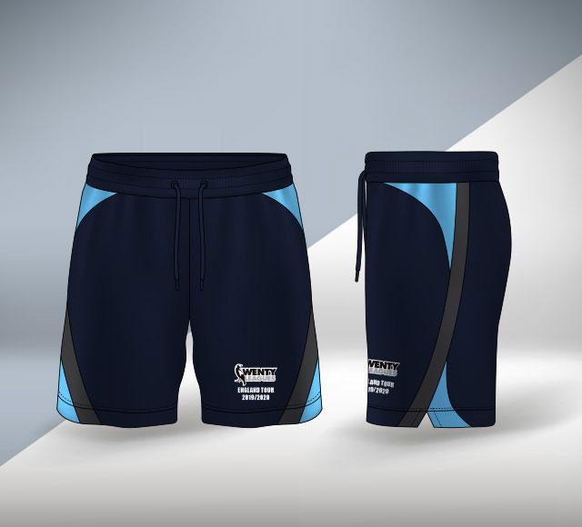 Wenty Cricket Club Australia Practice Short Design