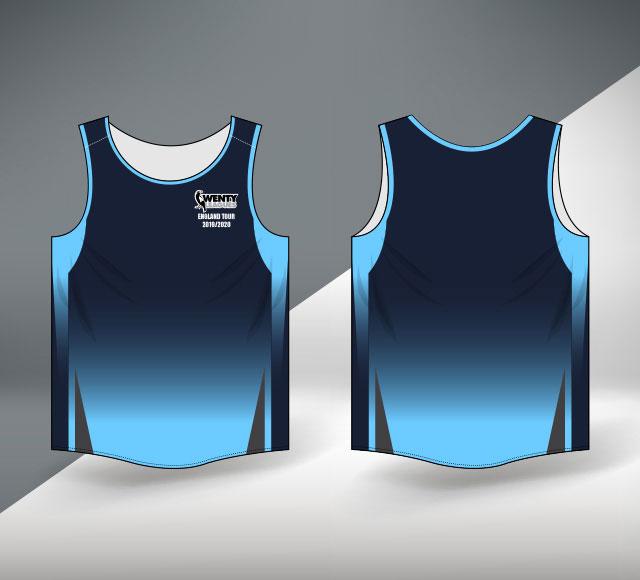 Wenty Cricket Club Australia Arm Cut T Shirt Design