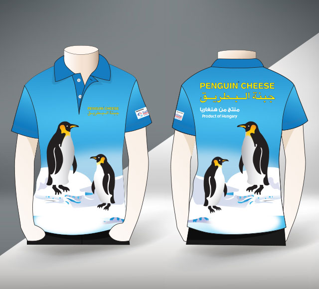 Penguin Cheese T Shirt Design
