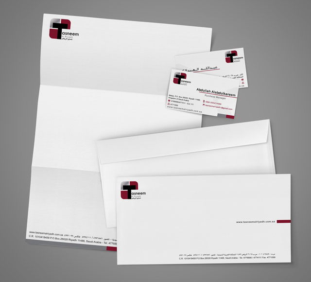 Tasneem Corporate Stationery