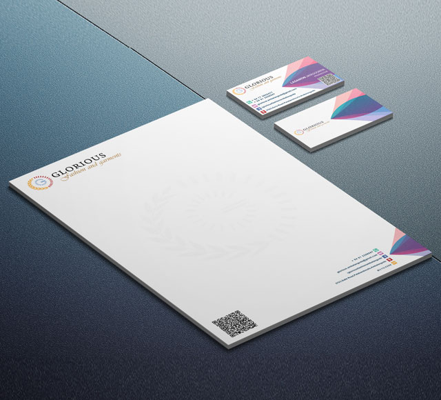Glorious Fashion & Garments Corporate Stationery