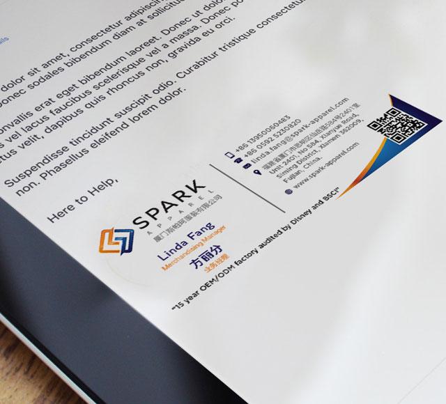 Spark Apparel E mail Signature