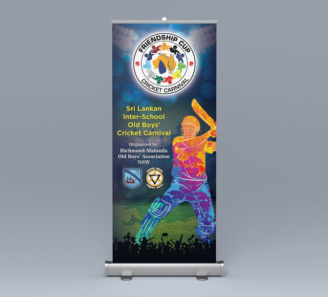 Friendship Cup Event Roll up Banner
