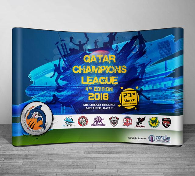 Cricket League Event Backdrop