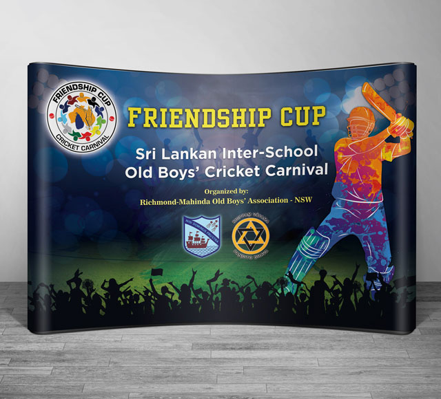 Friendship Cup Event Backdrop