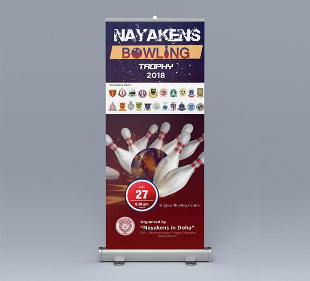Bandaranayake OBA Qatar Bowling Tournament Roll up Banner
